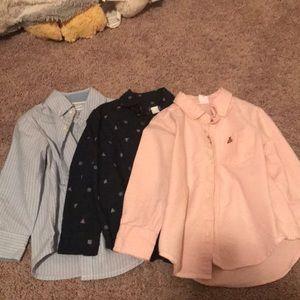 Boys 2T button up shirt bundle